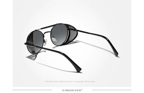Óculos Sol Punk Redondo Retro Vintage Kingseven Proteção Uv400